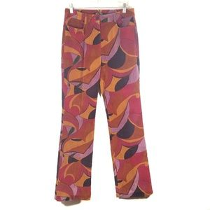 ETCETERA Multicolored Corduroy Colorblock Pant / 4